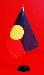 NAIDOC Aboriginal Table Flag Stand Official Licensed Suppliers by Adwareflags.com