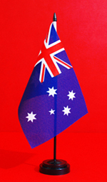 NAIDOC Table Flag Australian Table Flag stand by Adwareflags.com
