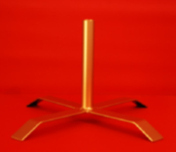 Flagpole Stand Base Indoor Single Pole Holder - Steel Metalic Copper