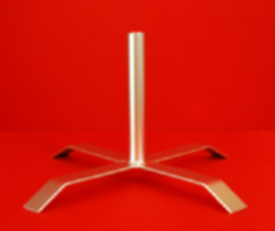 Flagpole Stand Base Indoor Single Pole Holder - Steel Metalic Silver