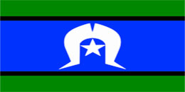 Hire Torres Strait Island Flag - large stage prop set background