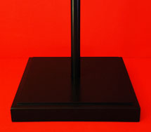 Inside Indoor Flagpole Base Floor Stand Fine Black Satin Finish Australian Made by Adware Flags & Flagpoles