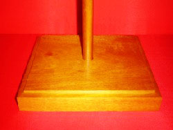 Flagpole Base Oak Stain Satin Lacquer Finish Highest Quality