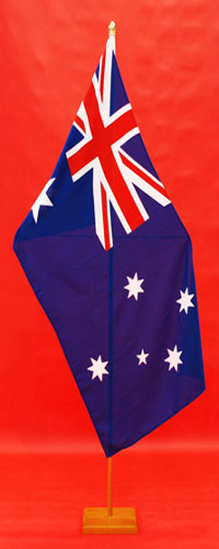 Indoor Flagpole Fitted With Flag Spreader Australian Flag 1800mm x 900mm By Adware Flags & Flagpoles