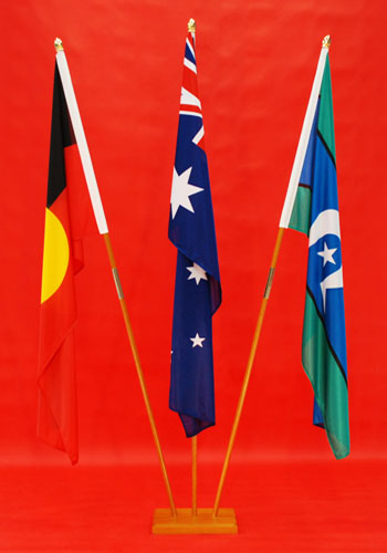 NAIDOC Week Timber Indoor Flagpoles Set - NAIDOC Marching Poles, Indigenous Aboriginal Flag Suppliers Adwareflags.com