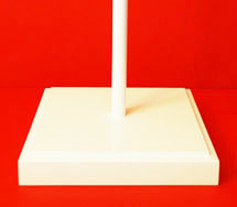 Indoor Wooden Flagpole Base Perfect White Satin Lacquer Finish by Adware Flags & Flagpoles