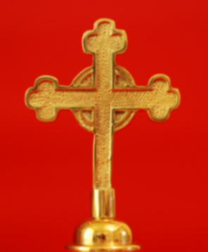 Religous Cross Indoor Flagpole Finial Solid Brass
