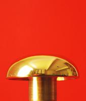 Flagpole Top Solid Brass Mushroom Shape Suits Aluminium Indoor Flagpoles By Adwareflags.com