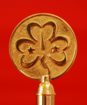 Girl Guides Trefoil Indoor Flagpole Finial