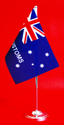 Australian Customs Service Table Flag Desk Flag 150mm x 230mm by Adwareflags.com