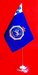 Tasmania Police Table Flag Desk Flag 150mm x 230mm by Adwareflags.com