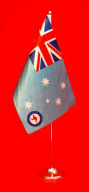 RAAF Satin Table Flag 150mm x 230mm by Adwareflags.com
