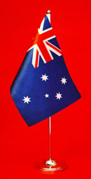 Australian Satin Table Flag Desk Flag 150mm x 230mm by Adwareflags.com