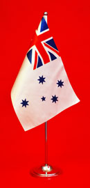 Royal Australian Navy Satin Table Flag Desk Flag 150mm x 230mm by Adwareflags.com