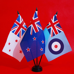 Table Flags RNZN New Zealand RNZAF