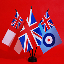 Table Flags RN United Kingdom RAF