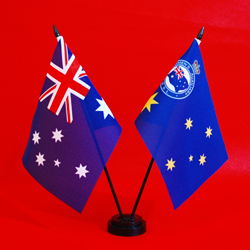 Australia and Women's Auxillary RSL Table Flags