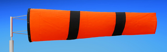 Windsocks Orange & Black Stripes 6 foot. H/D Polyurethane Mouth