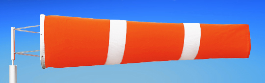 Windsocks Orange & White Stripes 6 foot. H/D Polyurethane Mouth