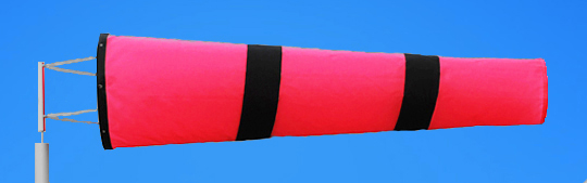 Windsocks Pink & Black Stripes 6 foot. H/D Polyurethane Mouth