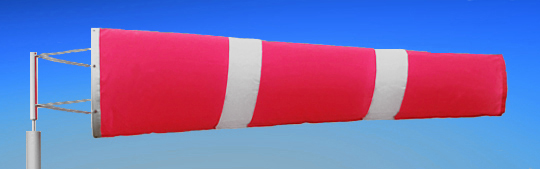 Windsocks Pink & White Stripes 6 foot. H/D Polyurethane Mouth